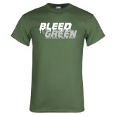 Military Green T Shirt-Bleed Green