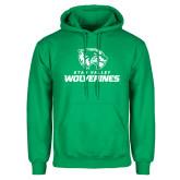 Kelly Green Fleece Hoodie-Utah Valley Wolverines Logo