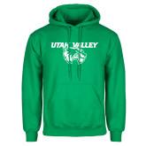 Kelly Green Fleece Hoodie-Utah Valley Logo