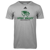 Adidas Climalite Sport Grey Ultimate Performance Tee-Utah Valley University