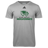 Adidas Climalite Sport Grey Ultimate Performance Tee-Utah Valley Wolverines Logo