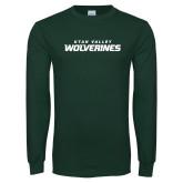 Dark Green Long Sleeve T Shirt-Utah Valley Wolverines