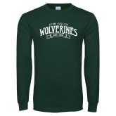 Dark Green Long Sleeve T Shirt-Utah Valley Wolverines Est 1941