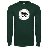 Dark Green Long Sleeve T Shirt-Wolverine Pride