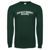 Dark Green Long Sleeve T Shirt-UVU Collegiate