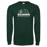 Dark Green Long Sleeve T Shirt-UVU Basketball