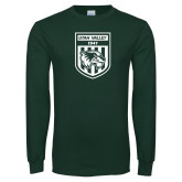 Dark Green Long Sleeve T Shirt-UVU Soccer