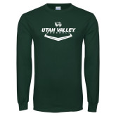 Dark Green Long Sleeve T Shirt-Wolverines Baseball