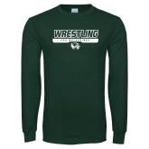 Dark Green Long Sleeve T Shirt-UVU Wrestling