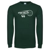 Dark Green Long Sleeve T Shirt-Wolverine Volleyball