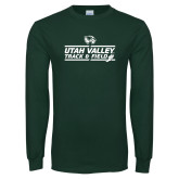 Dark Green Long Sleeve T Shirt-Wolverines Track & Field