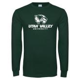 Dark Green Long Sleeve T Shirt-Utah Valley University