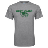 Grey T Shirt-Utah Valley Logo