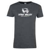 Ladies Dark Heather T Shirt-Utah Valley University