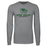 Grey Long Sleeve T Shirt-Utah Valley University