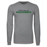 Grey Long Sleeve T Shirt-Utah Valley Wolverines