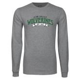 Grey Long Sleeve T Shirt-Utah Valley Wolverines Est 1941
