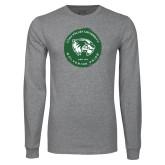 Grey Long Sleeve T Shirt-Wolverine Pride