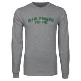 Grey Long Sleeve T Shirt-UVU Collegiate