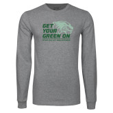 Grey Long Sleeve T Shirt-Get Your Green On