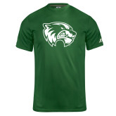 Russell Core Performance Dark Green Tee-Primary Logo
