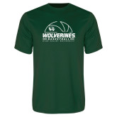 Performance Dark Green Tee-UVU Basketball
