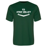 Performance Dark Green Tee-Wolverines Baseball