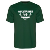 Performance Dark Green Tee-UVU Baseball