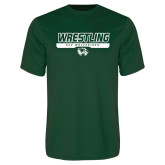 Performance Dark Green Tee-UVU Wrestling