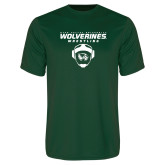 Performance Dark Green Tee-Wolverine Wrestling