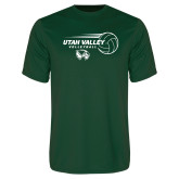 Performance Dark Green Tee-Wolverine Volleyball