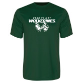 Performance Dark Green Tee-Secondary Logo