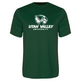 Performance Dark Green Tee-Utah Valley University