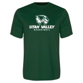 Performance Dark Green Tee-Basketball