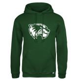 Russell DriPower Dark Green Fleece Hoodie-Primary Logo