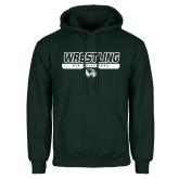 Dark Green Fleece Hood-UVU Wrestling