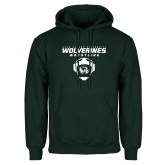 Dark Green Fleece Hood-Wolverine Wrestling