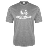 Performance Grey Heather Contender Tee-Utah Valley University