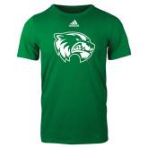 Adidas Kelly Green Logo T Shirt-Primary Logo