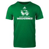 Adidas Kelly Green Logo T Shirt-Utah Valley Wolverines Logo
