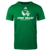 Adidas Kelly Green Logo T Shirt-Utah Valley University