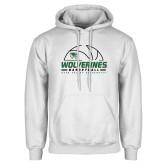 White Fleece Hoodie-UVU Basketball