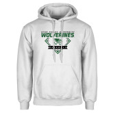 White Fleece Hoodie-UVU Baseball