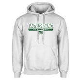 White Fleece Hoodie-UVU Wrestling