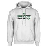 White Fleece Hoodie-Wolverines Track & Field