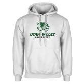 White Fleece Hoodie-Utah Valley University