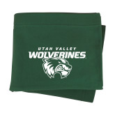 Dark Green Sweatshirt Blanket-Secondary Logo