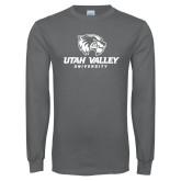 Charcoal Long Sleeve T Shirt-Utah Valley University