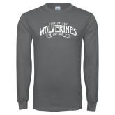 Charcoal Long Sleeve T Shirt-Utah Valley Wolverines Est 1941