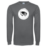 Charcoal Long Sleeve T Shirt-Wolverine Pride